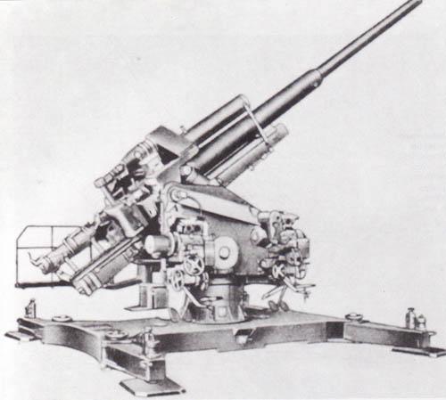 12 8 cm flak 40 44 45 germany deu anti aircraft artillery. Black Bedroom Furniture Sets. Home Design Ideas