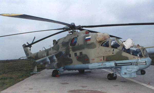 Mil Mi-24P for the Russian forces deployed in Kosovo (source: unknown)